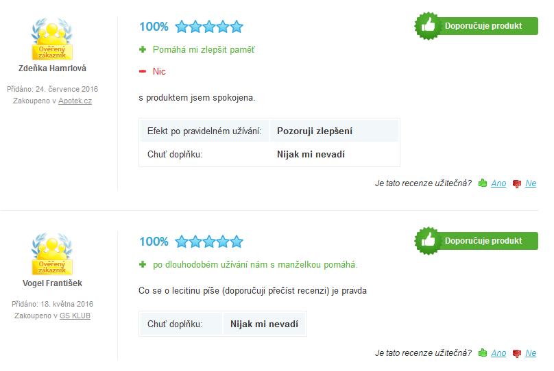 GS Lecitin 1200 cps.140 recenze
