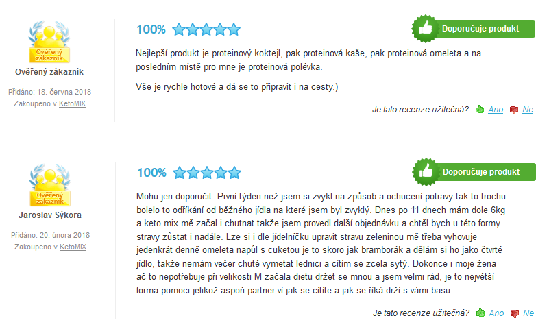 ketomix recenze a zkušenosti z Heureka.cz