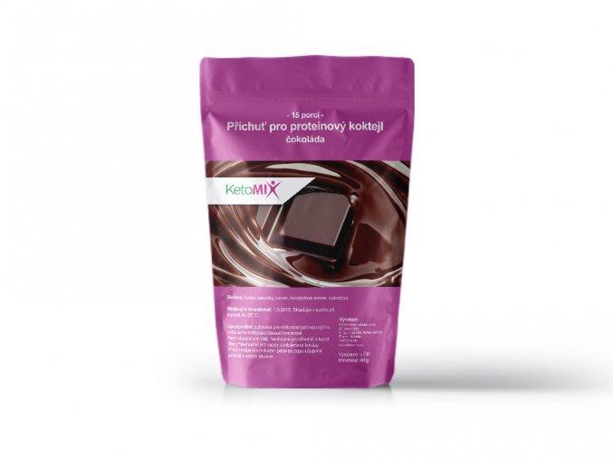 Příchuť čokoláda proteinového koktejlu KetoMix