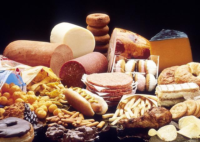 mastné a tučné jídlo