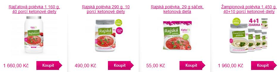 proteinová dieta - ketofit polévky