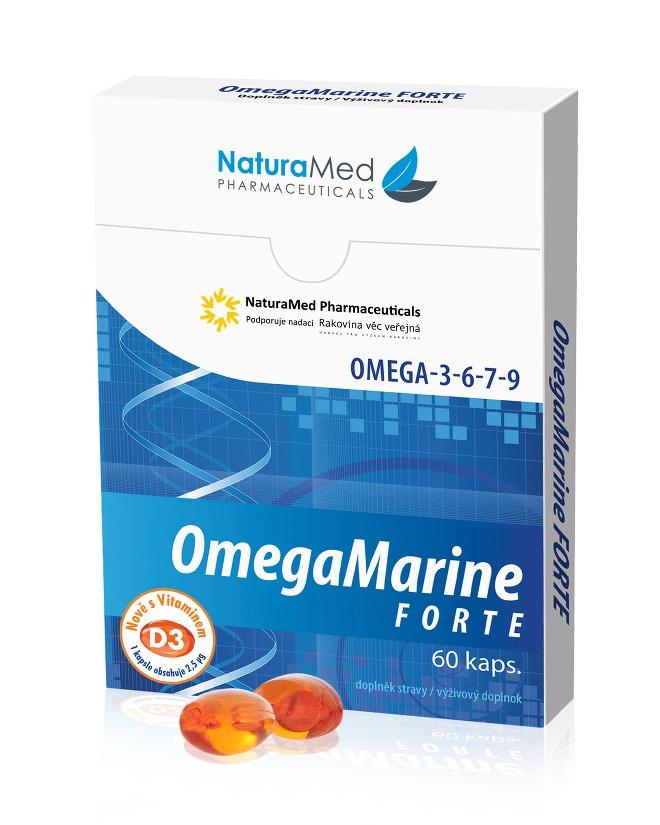 OmegaMarine Forte Natura med 60 kapslí