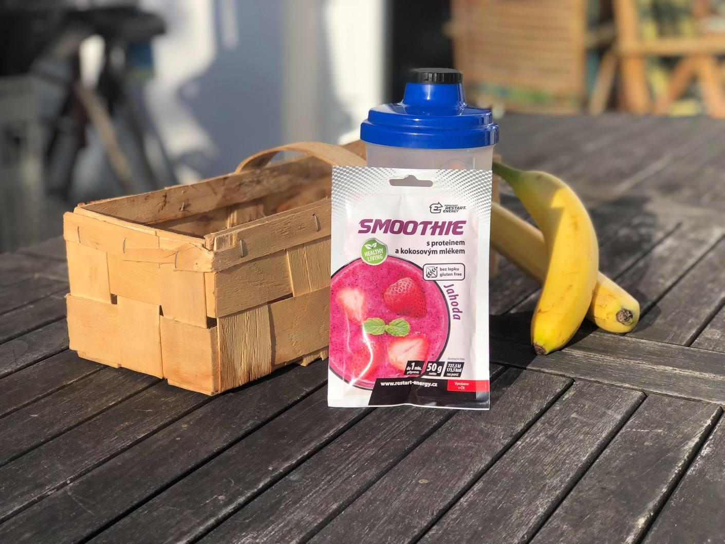 jahodové smoothie restart energy