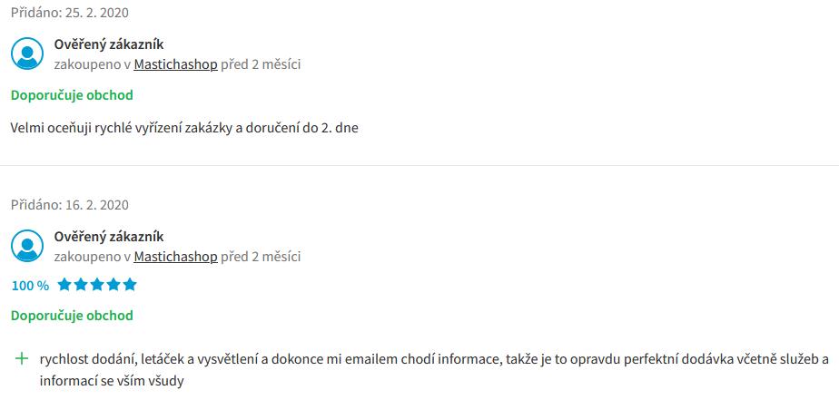masticha zkušenosti Heureka.cz