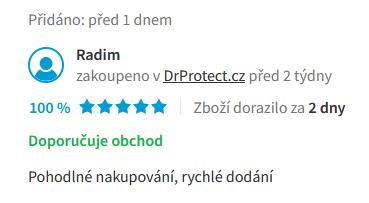 Heureka hodnocení obchodu DrProtect