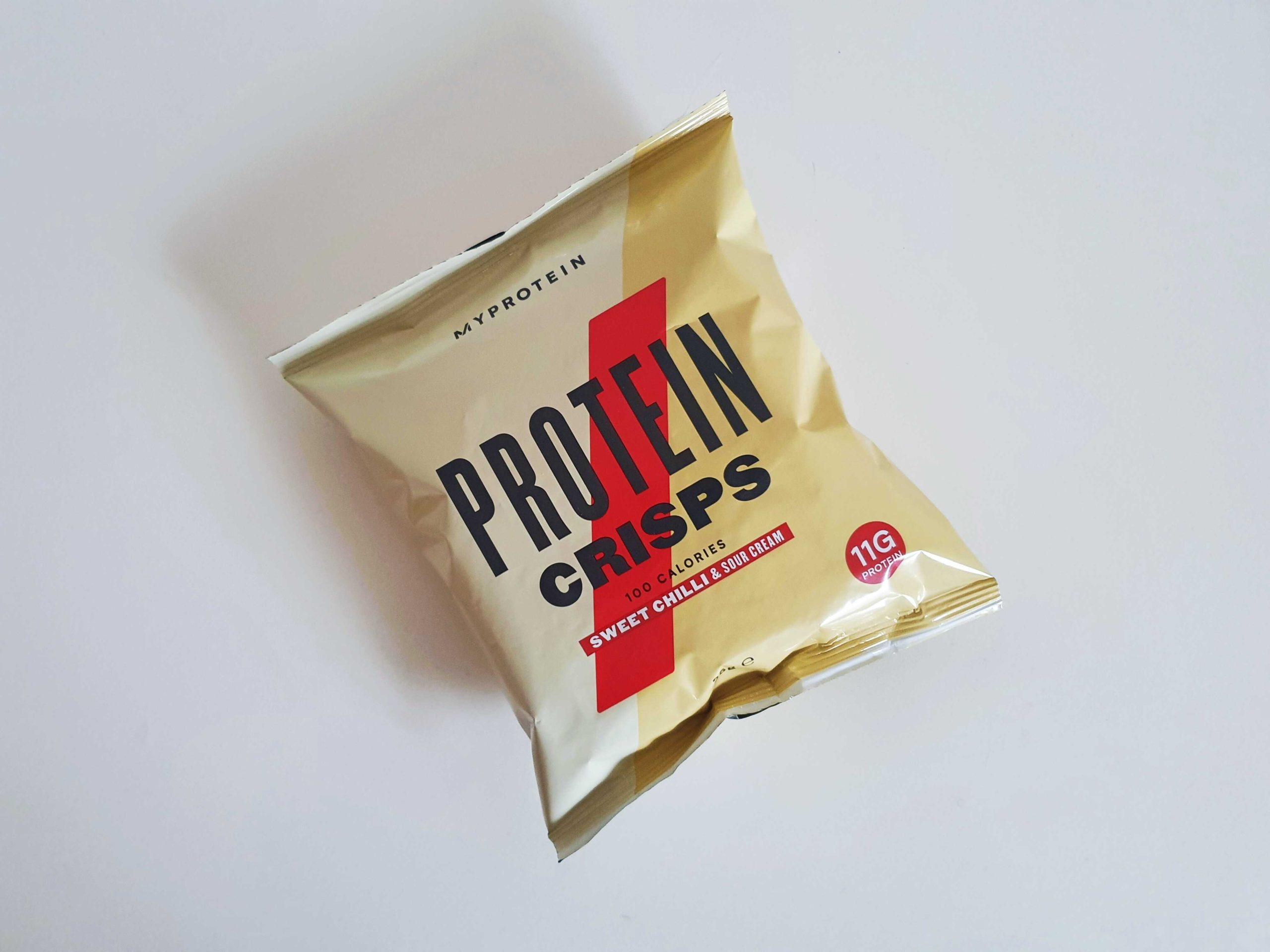 Proteinové chipsy MyProtein s vysokým obsahem bílkovin