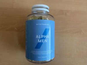 alpha men myprotein balení