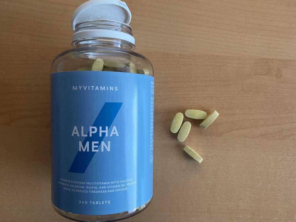 alpha men myprotein na podporu výkonu