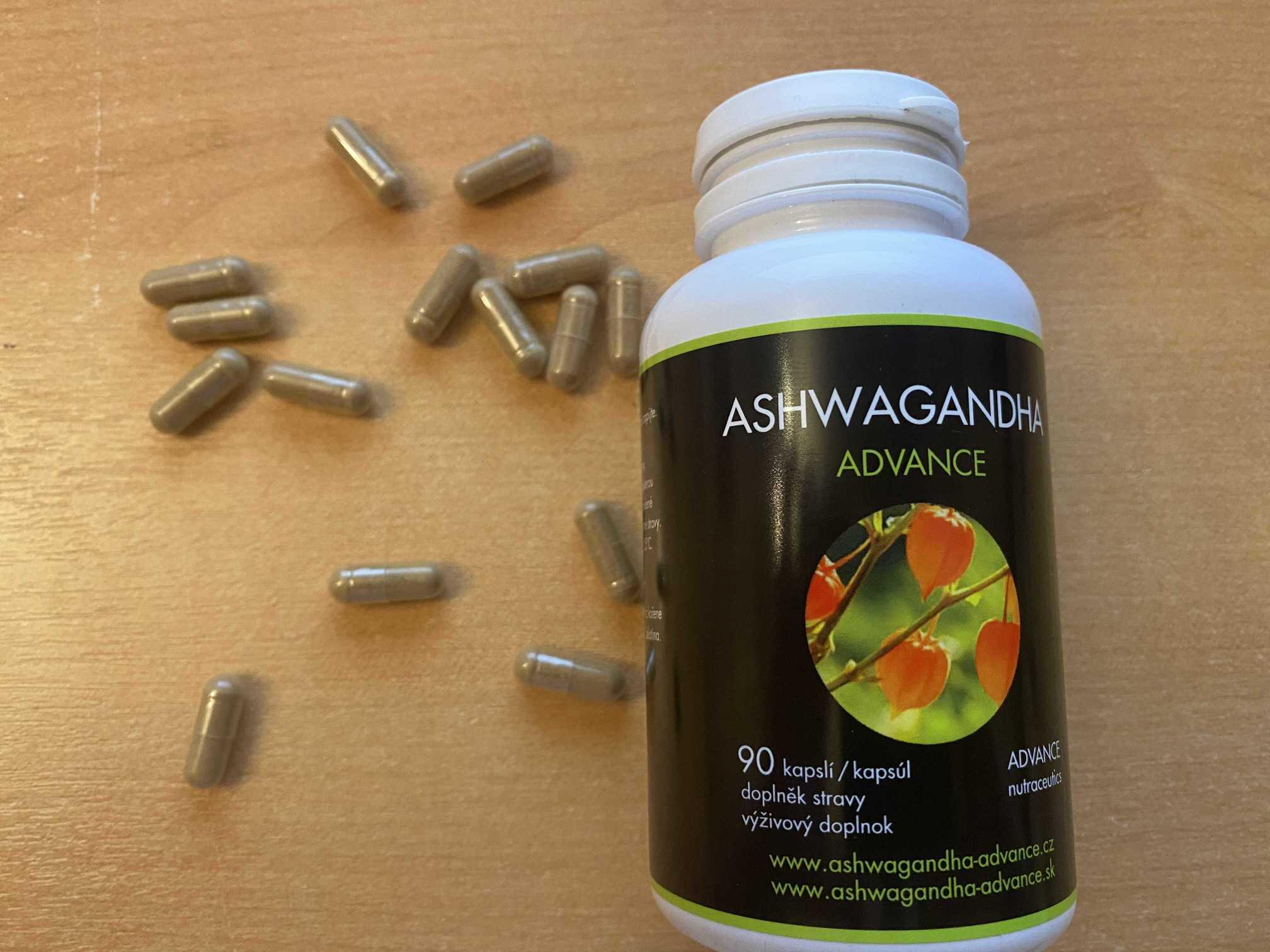 Ashwagandha ADVANCE vysypané kapsle s 5% extraktem