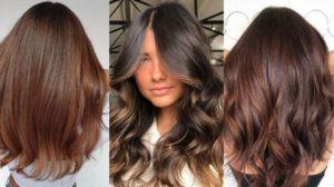 Brunetka s krásnými a pevnými vlasy