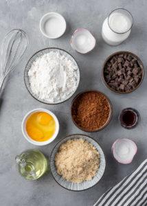 ingredience na výrobu muffinu