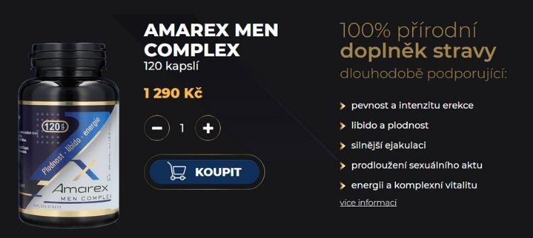 Amarex na podporu erekce - hlavní strana