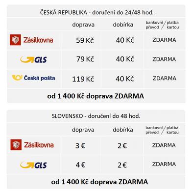 Ceník dopravy na Amarex.cz