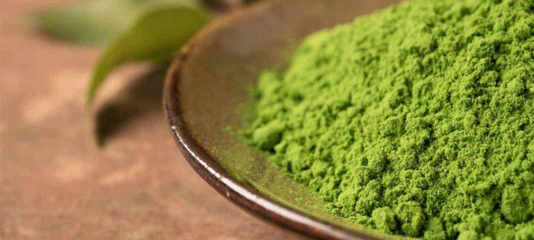 Green kratom prášek